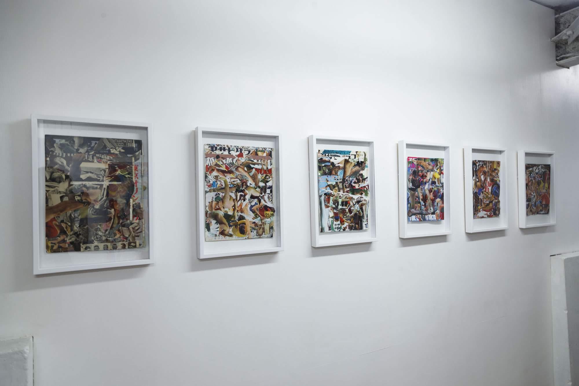 《highlight -栄光のスクラップアンドビルド-》series, 立岩有美子, Magazine of collage, 297×233mm, 2018
