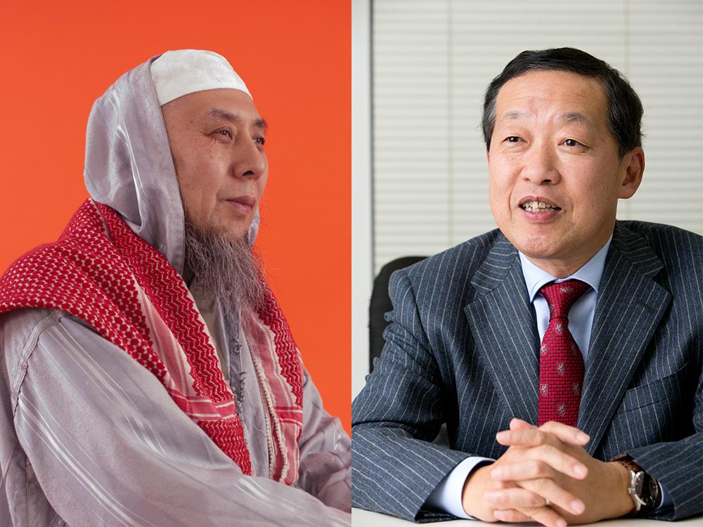 イスラーム法学者・中田考さん(左)と、宗教学者・島田裕巳さん(右)
