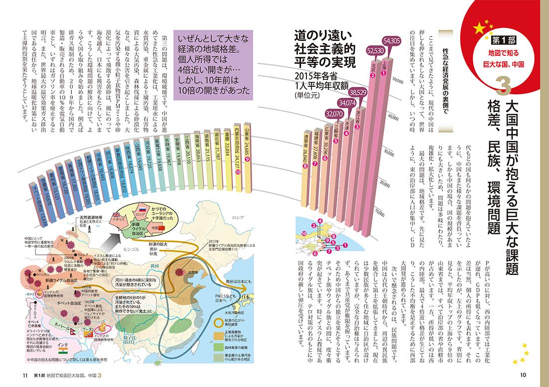 『図解でわかる 14歳から知っておきたい中国』ページサンプル2
