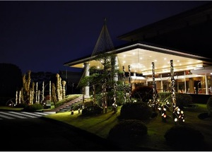 """明治記念館のイルミネーションは""""和""""がテーマ 「くまモン」探しも"""